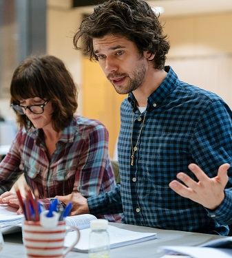 Ben Whishaw & Michelle Fairley in rehearsal