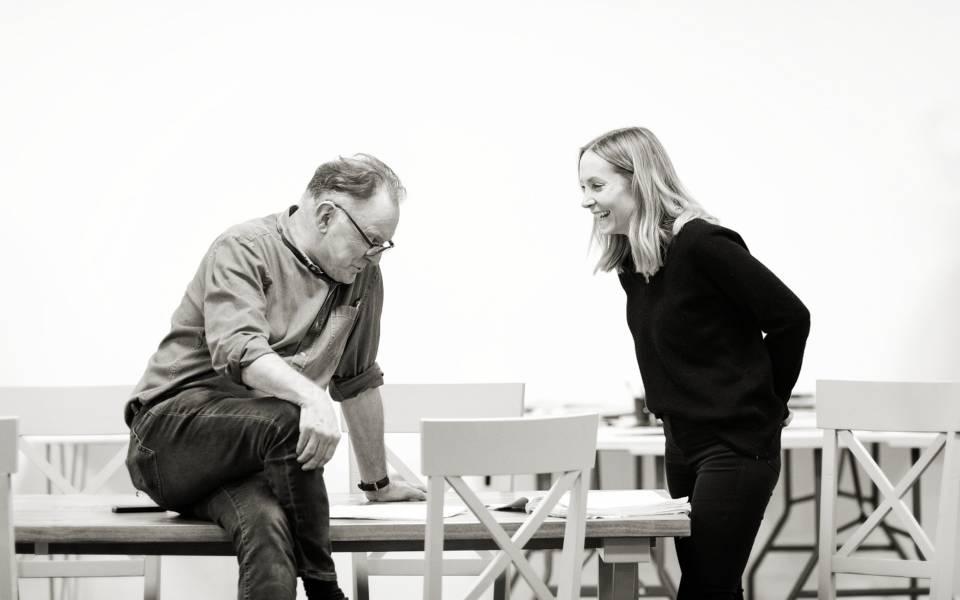 Robert Glenister and Joanne Froggatt – Rehearsal photos by Helen Maybanks